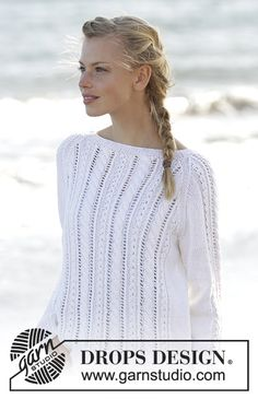 Knitted jumper with cables and raglan in DROPS Belle. Sizes S - XXXL. Free pattern by DROPS Design.