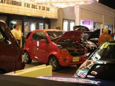 """Wheego LiFe electric car on display at a showing of """"Revenge of the Electric Car"""""""