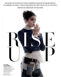 From a textured updo to a smooth center part, Garren created multiple looks for Kendall Jenner in the January 2015 issue of Vogue. Shot at both a studio and on a ranch in Los Angeles, Jenner modeled the upcoming spring trend of cropped jackets in a wester