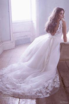 jim hjelm bridal spring 2013 sleeveless tulle ball gown lace bateau neckline v back 8315 OMG!!!!!!!!!!