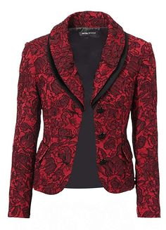 Heine Exquisite Jacquard Blazer Dressy Jackets, Stylish Jackets, Classic Work Outfits, Chic Outfits, Pakistani Clothes Online, Blazer Outfits For Women, Lace Blazer, Corporate Attire, Fashion Corner