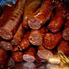 I love me some cajun food:). Cajun Andouille - more food to die for! How I miss Cajun cooking. Andouille Sausage Recipes, Homemade Sausage Recipes, Pork Recipes, Cooking Recipes, Eckrich Sausage, Cooking Ideas, Cooking Time, How To Make Sausage, Gastronomia
