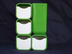 Vintage Modernist Green&White Kartell Era Desk Organizer #Unkown