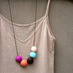 FIMO/polymer clay simple beads necklace