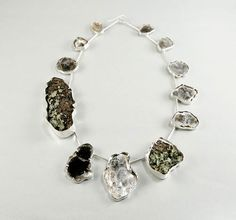 http://www.designersparty.com/category/Craft?page=3#recentTrackback  Necklace: Lichen and Mica 2008 20 inches long  Lichen, mica tree bark-all collected in Penland, North Carolina, sterling silver by So Yeon Kim