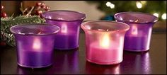 Four4 Piece Set 2inch LED Flameless Votive Christmas Advent Candles *** See this great product.
