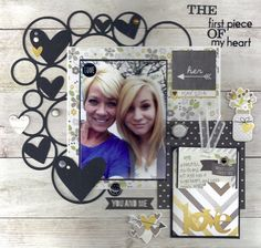 First Piece Of My Heart - Scrapbook.com - Simple Stories The Story of Us collection can be used for many more layout themes other than weddings!