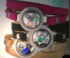 New Origami Owl Leather Bracelets coming Fall 2014!! www.mirandamoran.origamiowl.com