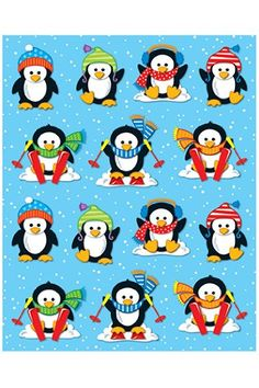 Carson Dellosa Penguins Shape Stickers Die-cut shapes Acid free and lignin free 84 stickers per pack Christmas Paper, Christmas Ornaments, Polar Animals, Penguin Art, Christmas Cartoons, Cute Penguins, Holiday Wishes, Christmas Pictures, Punch Art
