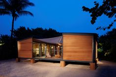 Louis Vuitton Co. has rebuilt and installed French architect Charlotte Perriand's 1934 Beach House for Design Miami.