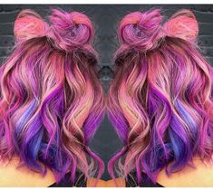 Galaxy pulp riot hair color by @nealmhair