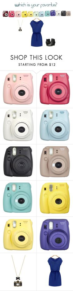 """Polaroid outfits"" by peaceandlove13-1 ❤ liked on Polyvore featuring Fujifilm, Fuji, Polaroid, Betsey Johnson and Bella-Vita"