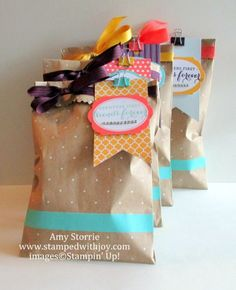 Polka Dot Tag a Bag Amy Storrie, www.stampedwithjoy.com