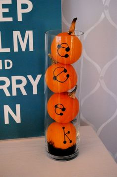Display Small Pumpkins