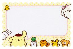 "Sanrio Purin ""Volume"" Letter Set (2014) 