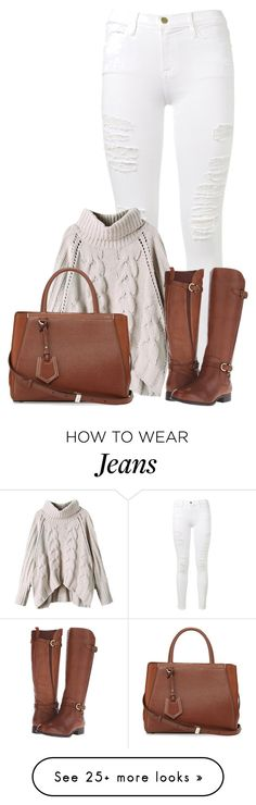 """""""Untitled #1570"""" by directioner-123-ii on Polyvore featuring Frame Denim, Naturalizer, Fendi and FFfatifashion"""