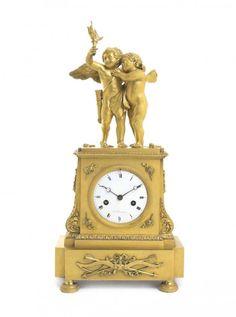 Clocks – Decor :     A Louis XVI Style Gilt Bronze Figural Mantel Clock, : Lot 282    -Read More –   - #Clocks https://decorobject.com/decorative-objects/clocks/clocks-decor-a-louis-xvi-style-gilt-bronze-figural-mantel-clock-lot-282/