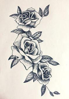#dotwork #roses
