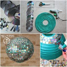 How to make a disco ball? It's easy... Check out our tutorial and enjoy carnival! Deco Disco, 80s Theme, New Years Party, Decade Party, Paper Lanterns, Party Planning, Birthday Parties, Disco Theme Parties, Disco Party Decorations