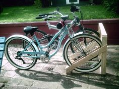 Here is another great Eddie project that only took a couple hours to complete, again recycling the wood from pallets.  We enjoy biking and he decided to make a bicycle rack or stand to ke...