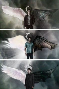 Fan Art of Sam, Dean and Castiel for fans of Supernatural 39716108 Supernatural Imagines, Supernatural Destiel, Wallpapers Supernatural, Supernatural Engel, Supernatural Series, Supernatural Bloopers, Supernatural Fan Art, Supernatural Angel Wings, Supernatural Outfits