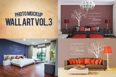 Wall Art Photo Mockups Volume 3 by Exit3 on Creative Market