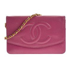 Chanel Pre-owned Chanel Vintage Wallet on Chain Shoulder Bag (63,105 PHP) ❤ liked on Polyvore featuring bags, handbags, shoulder bags, chanel, red, red purse, purple handbags, purse, red shoulder bag and red handbags