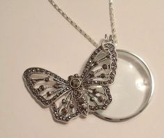 Magnifying Glass Hematite Rhinestone Butterfly by JENSTARDESIGNS, $24.99
