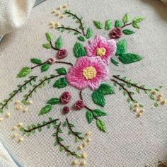 "4,294 Likes, 11 Comments - ⚪ (@handmade.embroidery) on Instagram: ""@fatamorgana3507 #spring #nature #flower #designer"""
