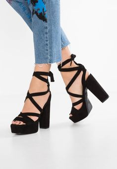 c37ad556b61 VEGAN - High Heel Sandalette - black   Zalando.de 🛒