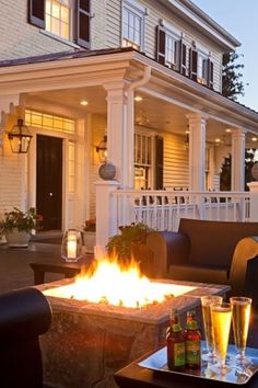 Beautiful porch and outdoor living space. Hey, is that Sierra Nevada Pale Ale in the foreground?