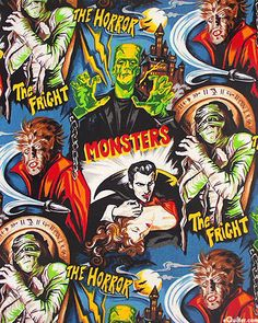 Classic movie monster fabric finally  back in print - I just ordered this to make the 'Monique' dress from.
