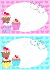 Resultado de imagen para cup cakes border