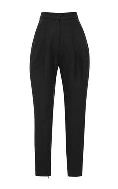 Shop High-Waisted Pleated Woven Pants by Delpozo Now Available on Moda Operandi