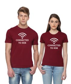 d49b8aa8 Buy T-shirts Online - Matching Couple T-shirts, Perfect Gift for Valentine.  We Have Largest Collection Of Couple Tees in India