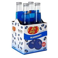 JELLY BELLY  Pack of four Blueberry soft drinks 355ml