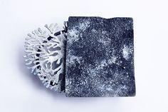 """Nicola Heidemann, brooch  """"reverse side of sky"""" silver, enamel, pigment"""