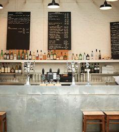 The bar at Fergus Henderson's St. John in London.