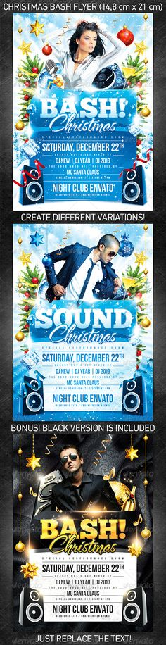 New Year Disco Flyer Event flyers, Events and Discos - holiday flyer template example 2
