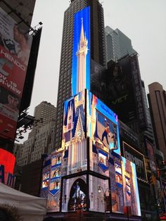the disney castle in times square