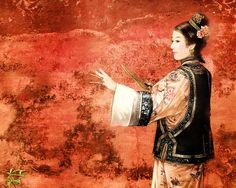 The Ancient Chinese Beauty by Der Jen - Der Jen's Art Painting - The Beauties in Qing Dynasty 26 Chinese Painting, Chinese Art, Chinese Picture, Contemporary Poetry, Art Asiatique, Creative Pictures, Qing Dynasty, Portrait Art, Portraits