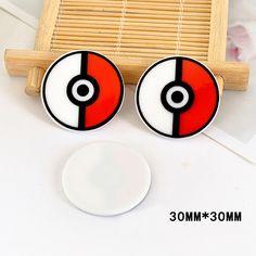 50 Pieces 30*30mm Japan Cartoon Pokemon Go Flatback Resin Kawaii Planar Resin DIY Craft for Home Decoration Accessories DL-652