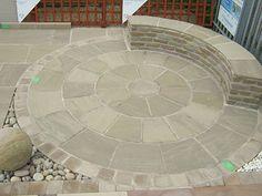 Natural Paving Circle and Walling Feature