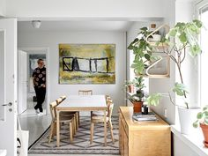 """Olli-Pekka favors classics and vintage: """"I do not want disposable things in my home"""" Scandinavian Living, Scandinavian Interior, Interior Inspiration, Room Inspiration, Colourful Living Room, White Laminate, My Home Design, Selling Furniture, Alvar Aalto"""