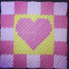 Finished one of the squares by C2C pattern blanket.