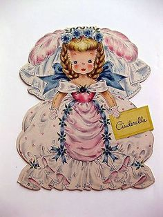 1947 Hallmark Paper Doll Card Land of Make Believe Cinderella A Decoupage Vintage, Vintage Paper Dolls, Vintage Crafts, Vintage Art, Clipart Vintage, Vintage Drawing, Vintage Ladies, Sarah Kay, Vintage Birthday Cards