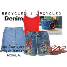 Denim at Juju Queen's Junk by judypimperl on Polyvore featuring Mother, Topshop and Sam Edelman
