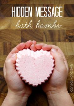 DIY these gorgeous hidden message bath bombs for DIY Valentine's Day gifts. What a fun kid-made valentine! Mothers Day Crafts, Valentine Day Crafts, Be My Valentine, Crafts For Kids, Valentine Ideas, Homemade Valentines, Valentine's Day Quotes, Playdough To Plato, Bath Bomb Recipes