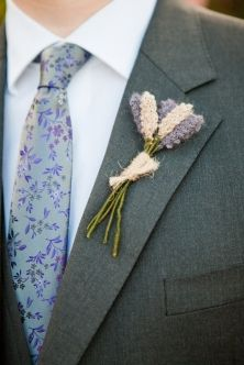 Knitted lavender buttonhole button hole boutonniere #wedding