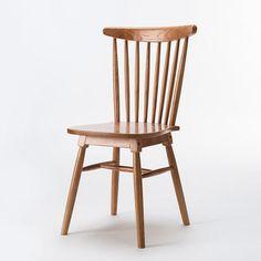 简域实木温莎椅欧式复古实木餐椅酒店咖啡餐桌椅休闲靠背书桌木椅